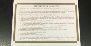 Everhot-Certificate-of-Warranty-Water-heater-city-Singapore