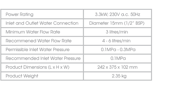 707-PRINCETON-specifications-water-heater-singapore
