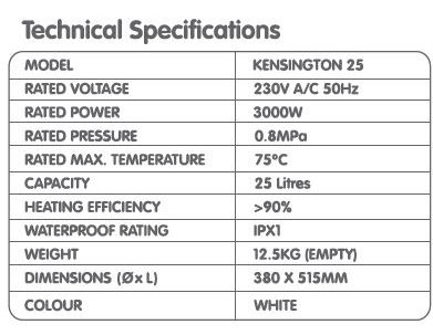 707 kensington 25L features water heater city singapore 2