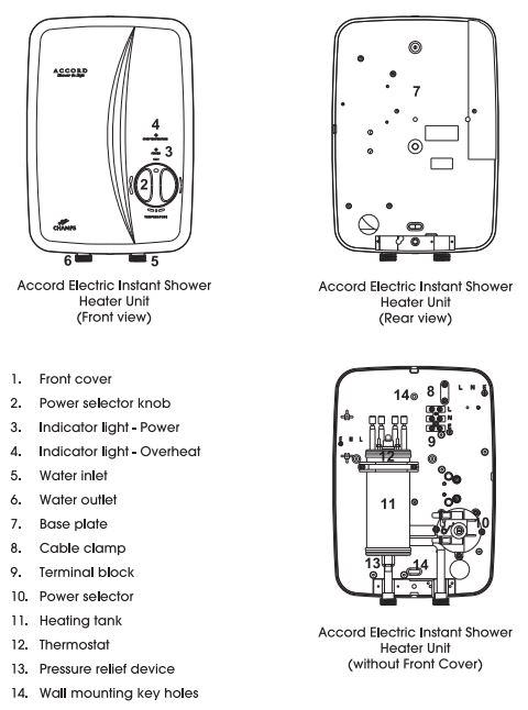 Champs Accord specifications instant water heater city singapore