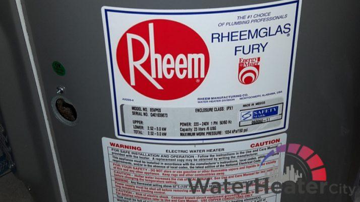 Different Types of Rheem Storage Water Heater